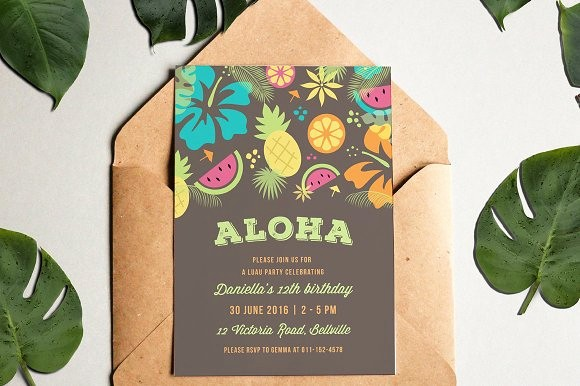 Luau Party Invitations Templates Free Best Of Luau Party Invitation Invitation Templates On Creative