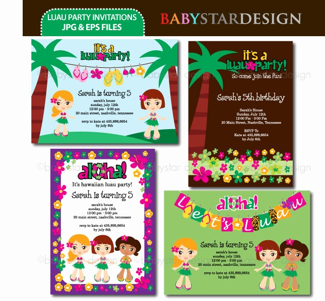 Luau Party Invitations Templates Free Fresh 8 Best Of Hawaiian Luau Background Template