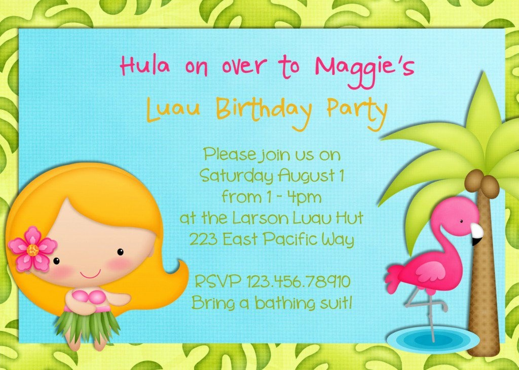 Luau Party Invitations Templates Free Fresh Luau Invitations Templates Party Xyz