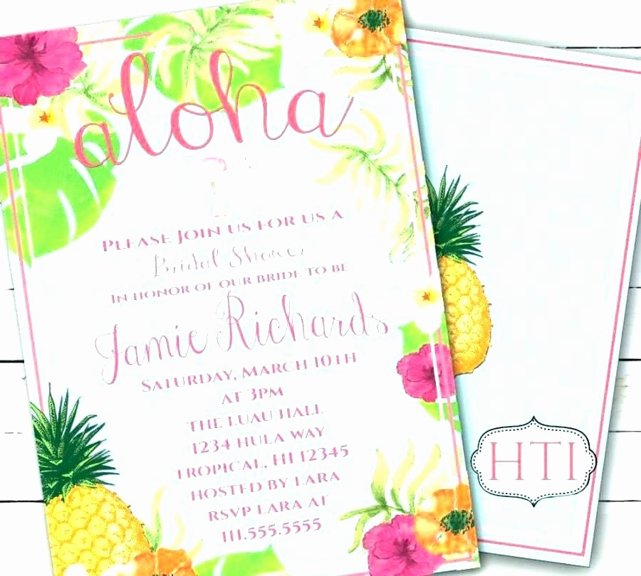 Luau Party Invitations Templates Free Inspirational Free Printable Luau Party Invitation Templates Template