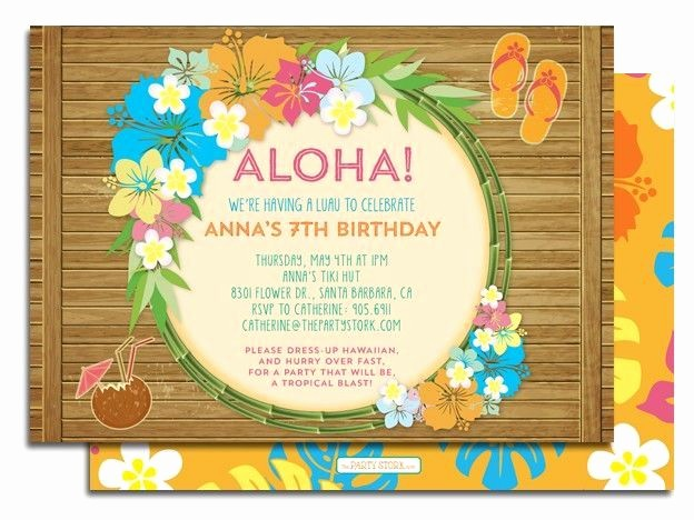 Luau Party Invitations Templates Free Lovely Best 25 Luau Birthday Invitations Ideas On Pinterest