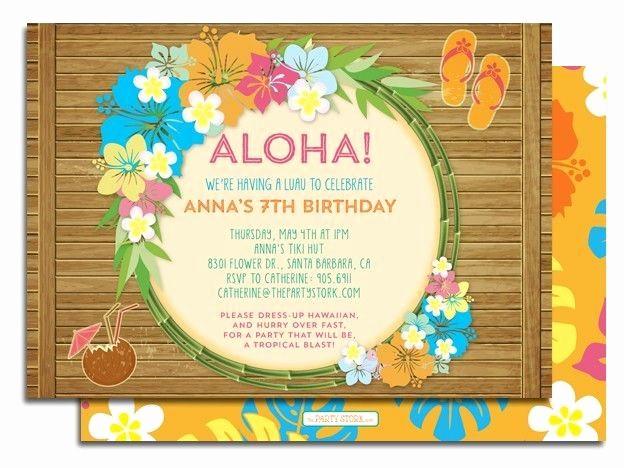 Luau Party Invitations Templates Free Lovely Best 25 Luau Birthday Invitations Ideas On Pinterest