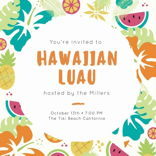 Luau Party Invitations Templates Free Lovely Luau Party Pineapple Tropical Invitation Templates by Canva