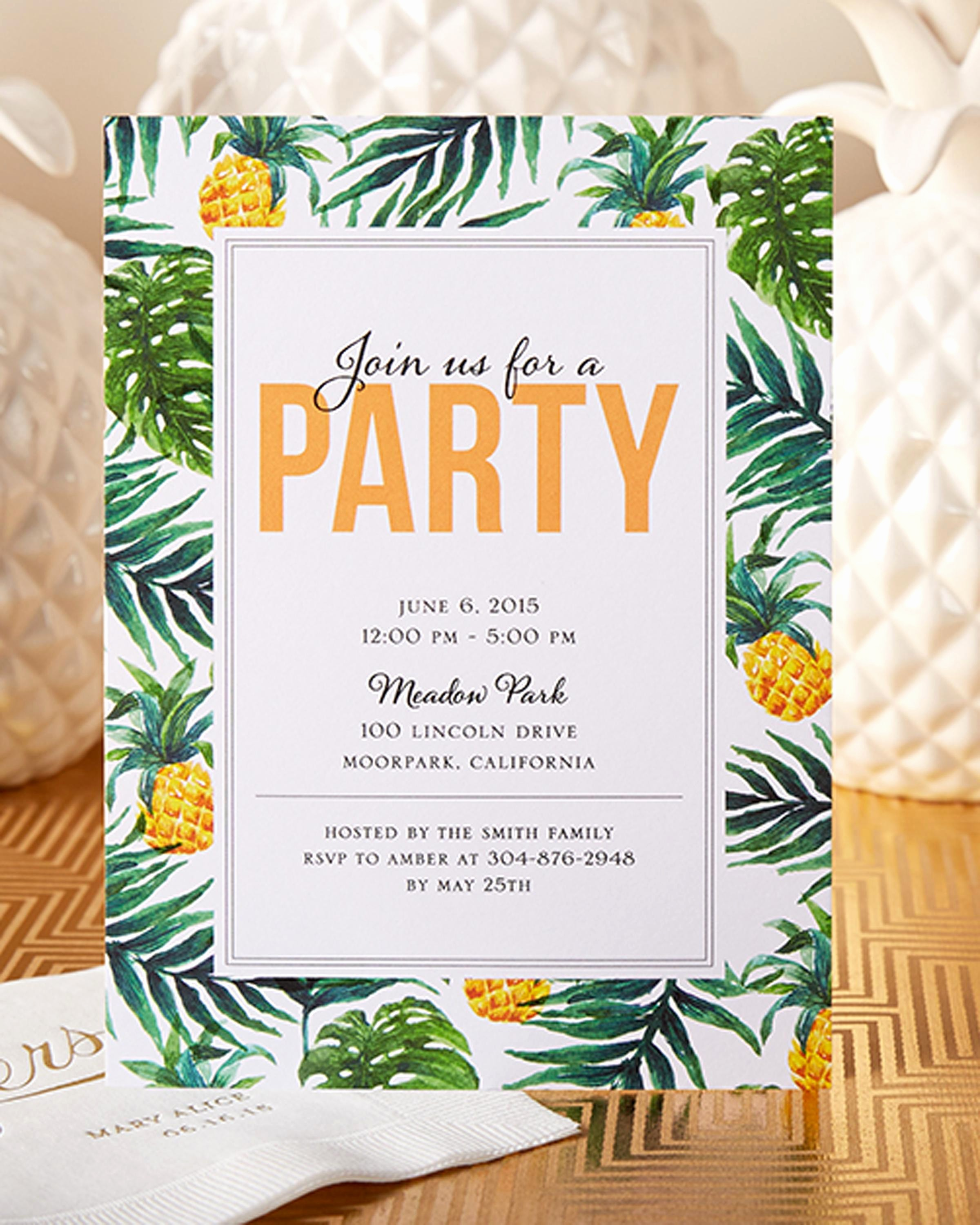 Luau Party Invitations Templates Free Luxury Others Custom Luau Invitations for Your Tropical Getaway