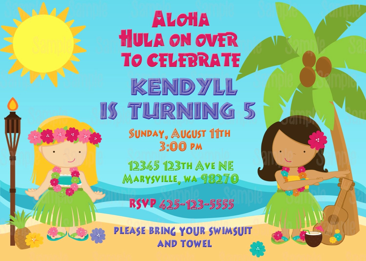 Luau Party Invitations Templates Free New Printable Luau Birthday Party Invitation Plus Free Blank