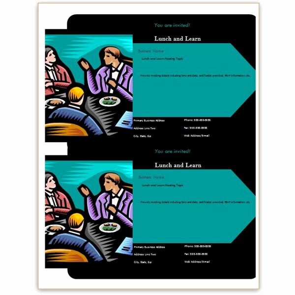Lunch and Learn Invitation Template Elegant Free Business Lunch and Learn Invitation forms Options