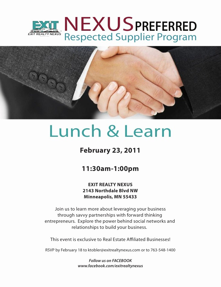 Lunch and Learn Invitation Template Fresh Nexus Preferred Feb 23rd Lunch and Learn Invite