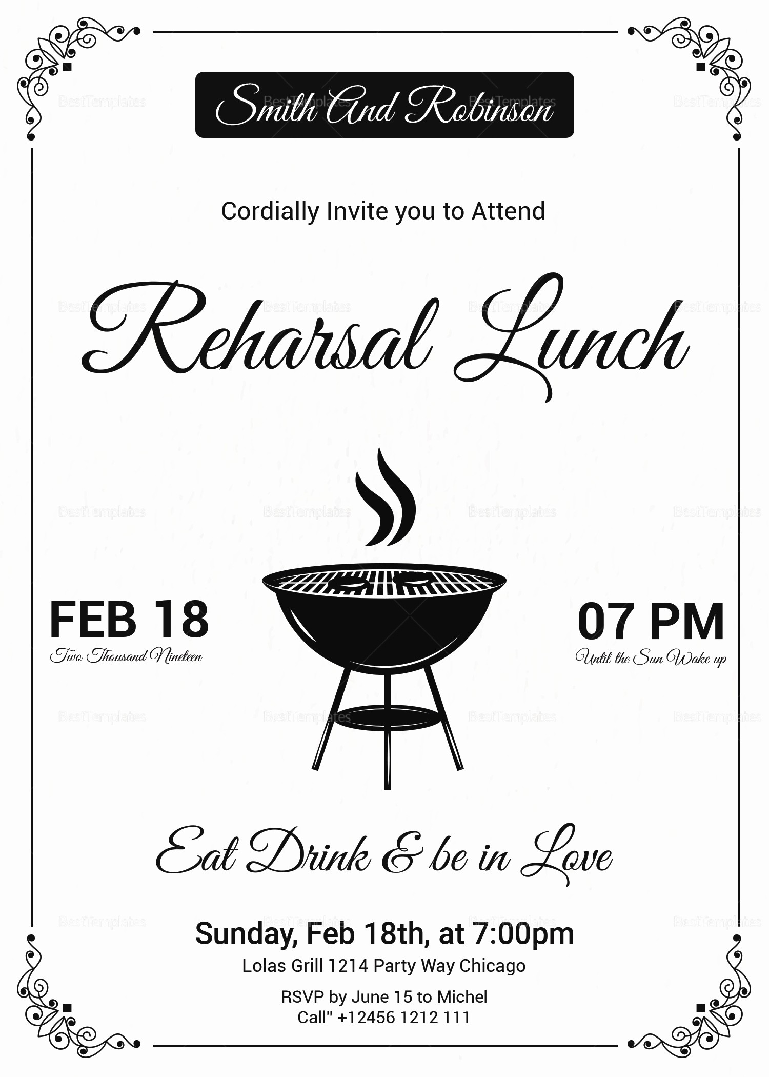 Lunch and Learn Invitation Template Inspirational Vintage Lunch Invitation Design Template In Psd Word