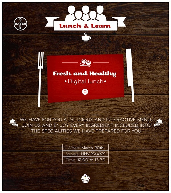 Lunch and Learn Invitation Template Lovely 15 Lunch Invitations