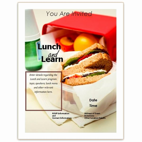 Lunch and Learn Invitation Template Lovely 6 Best Of Business Lunch Invitation Wording