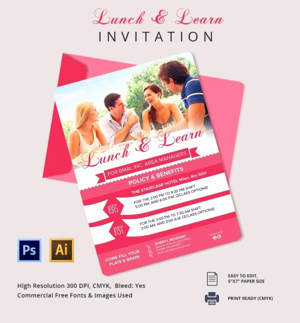 Lunch and Learn Invitation Template Lovely Lunch Invitation Template 25 Free Psd Pdf Documents