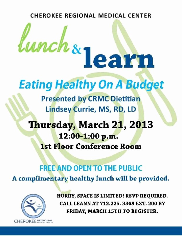 p lunch and learn flyer templates