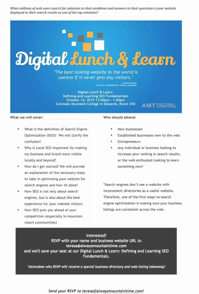 Lunch and Learn Invitation Template Luxury Lunch and Learn Invitation