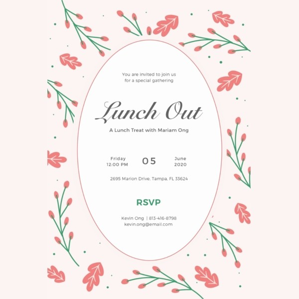 Lunch and Learn Invitation Template Luxury Lunch Invitation Template 34 Free Psd Pdf Documents