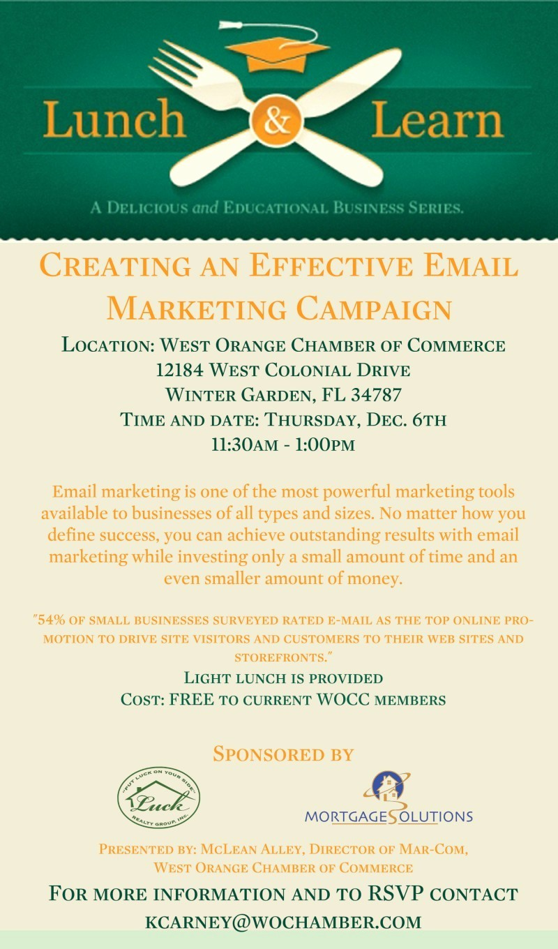 "Lunch and Learn Invitation Template New Lunch and Learn ""creating An Effective Email Marketing"