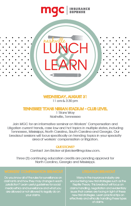Lunch and Learn Invitation Template Unique 2016 Nashville Lunch & Learn Mgc