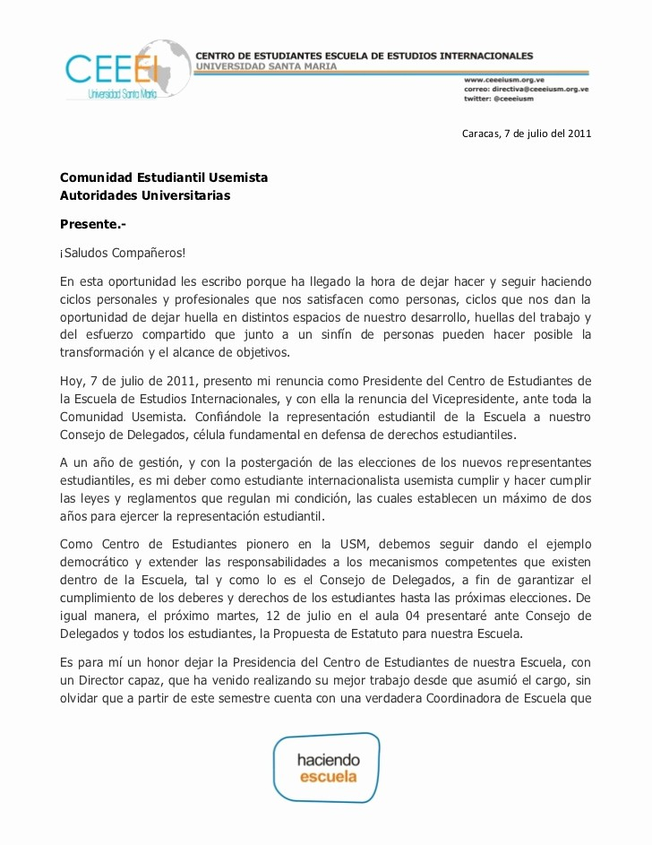 Machote De Carta De Renuncia Unique Carta De Renuncia