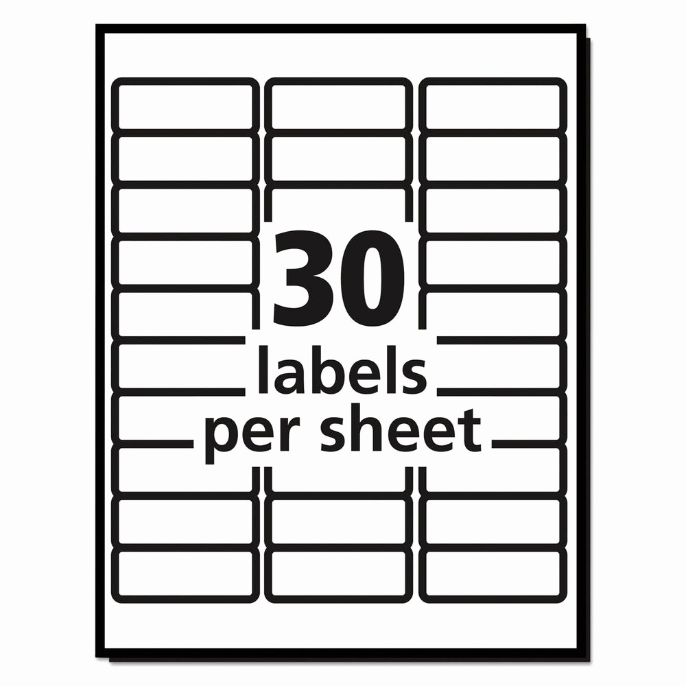 Mailing Labels 30 Per Sheet Beautiful 20 Sheets 30 Labels Per Sheet Avery Easy Peel Laser