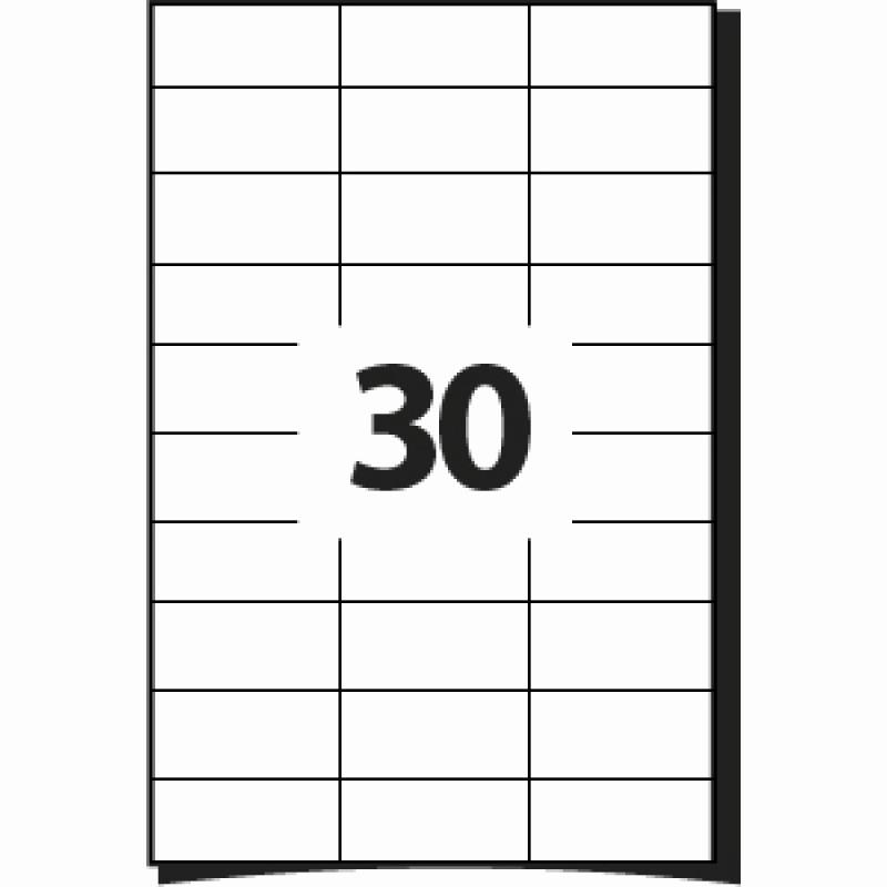 Mailing Labels 30 Per Sheet Best Of 30 Labels Per A4 Sheet 64 X 26 7 Mm 100 Sheets Fice
