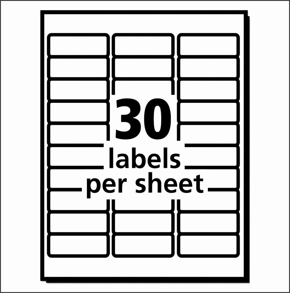Mailing Labels 30 Per Sheet Elegant 10 Template for Address Labels 30 Per Sheet