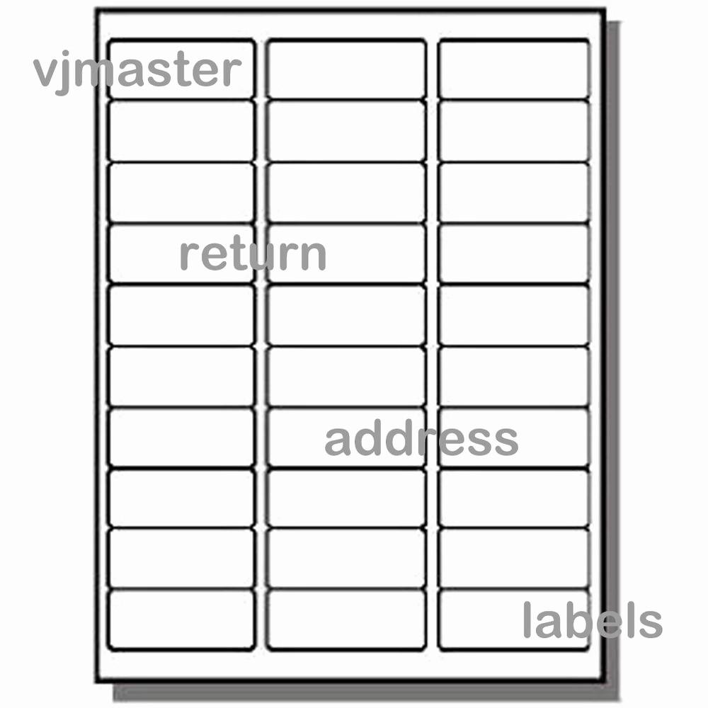 Mailing Labels 30 Per Sheet Elegant 3000 Address Labels 30 Labels Per Sheet 100 Sheets
