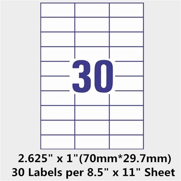 Mailing Labels 30 Per Sheet Fresh Avery Address Label Template 30 Per Sheet
