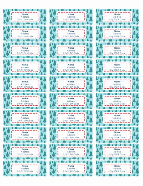 Mailing Labels 30 Per Sheet Inspirational Christmas Tree Address Labels 30 Per Page