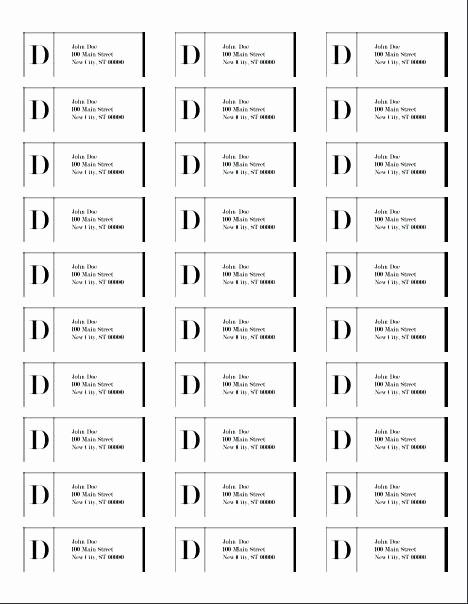 Mailing Labels 30 Per Sheet Inspirational Free Mailing Label Template Printable Return Address
