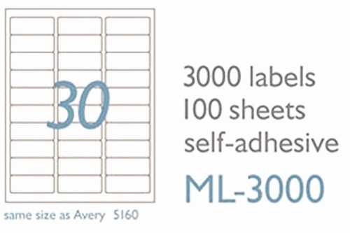 Mailing Labels 30 Per Sheet Inspirational Maco Laser Ink Jet White Address Labels 1 X 2 5 8 Inches