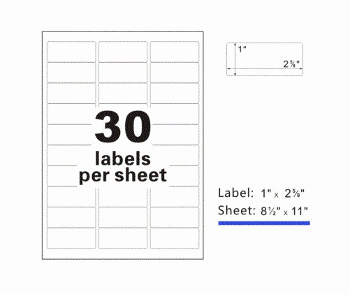 Mailing Labels 30 Per Sheet Lovely Premium Self Adhesive Address Mailing Shipping Labels 2