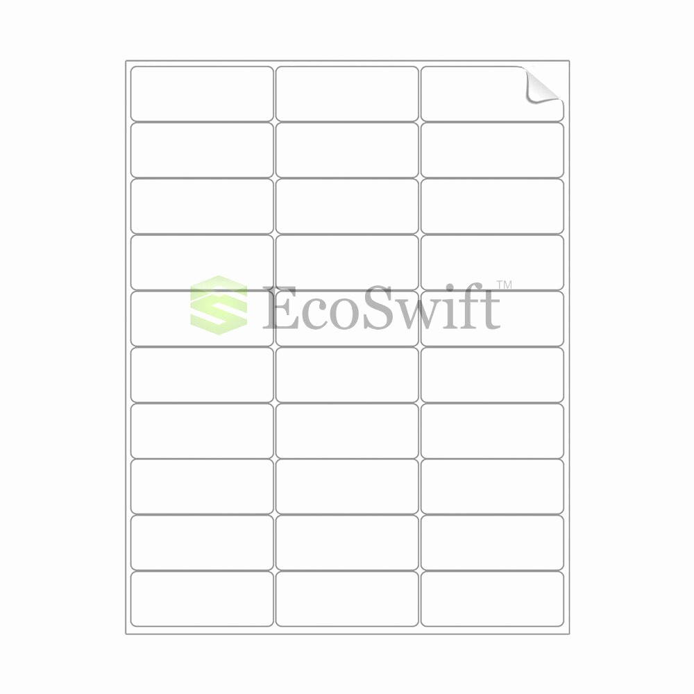 Mailing Labels 30 Per Sheet New 300 2 625 X 1 Laser Address Shipping Adhesive Labels 30