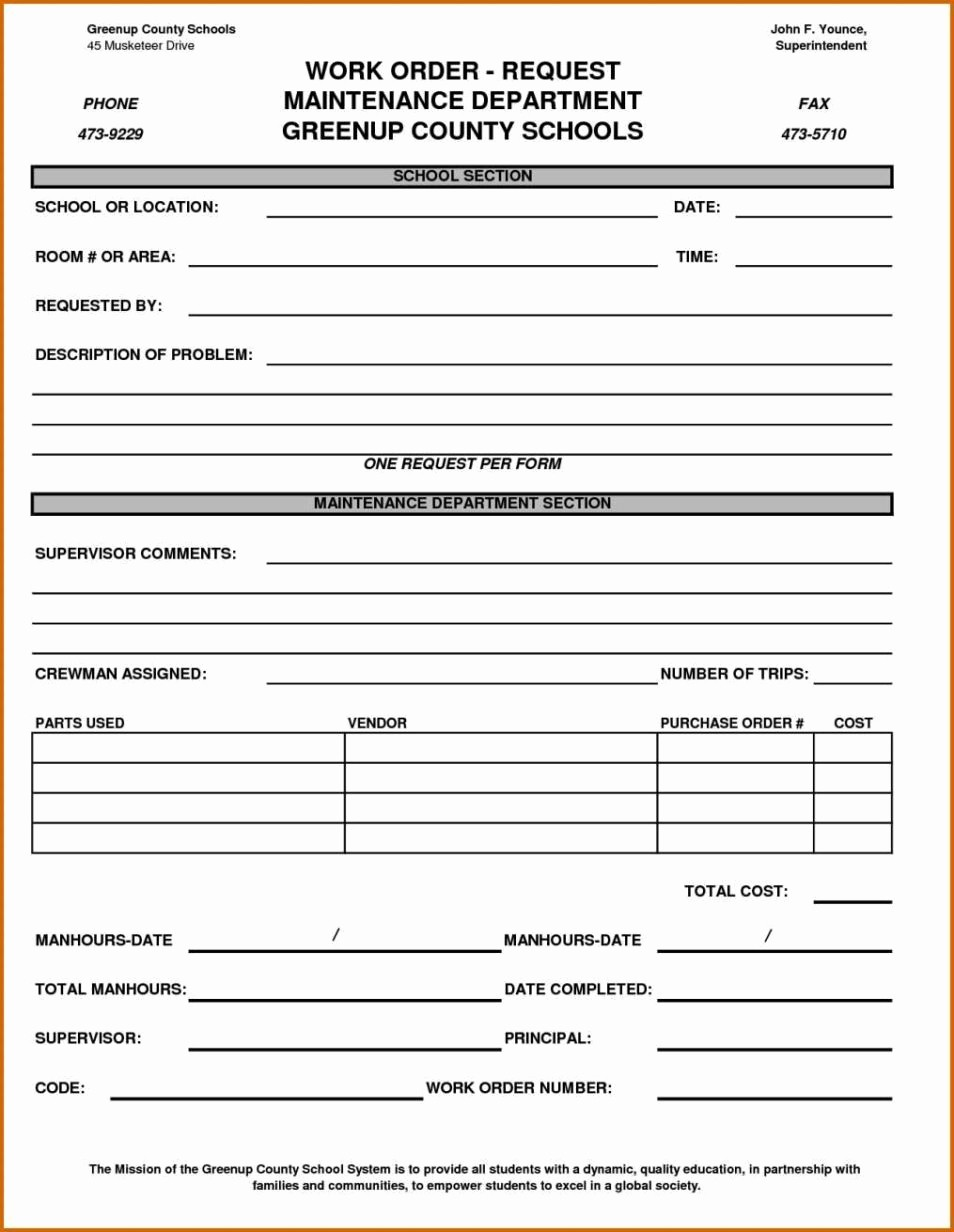 Maintenance Work order Template Excel Awesome Maintenance Work order Template Excel Sampletemplatess