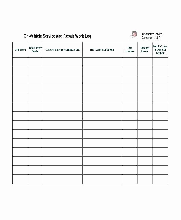Maintenance Work order Template Excel Inspirational Maintenance Request Log Template Download From Accounting
