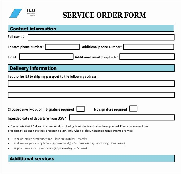 Maintenance Work order Template Excel Lovely Sample Service order Template 19 Free Word Excel Pdf
