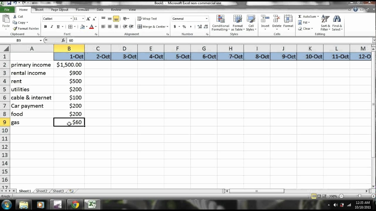 Make A Budget On Excel Awesome Excel How to Make A Bud Part 1 Personal Finance