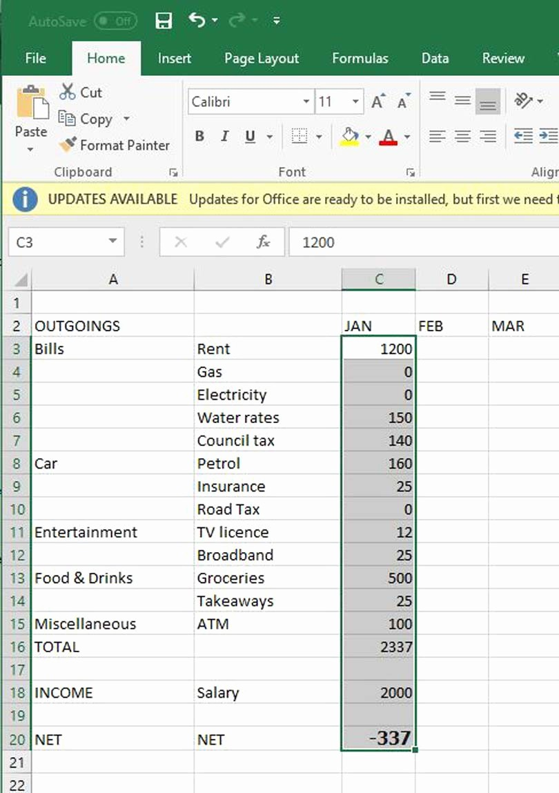 Make A Budget On Excel Awesome How to Create A Bud Using Microsoft Excel
