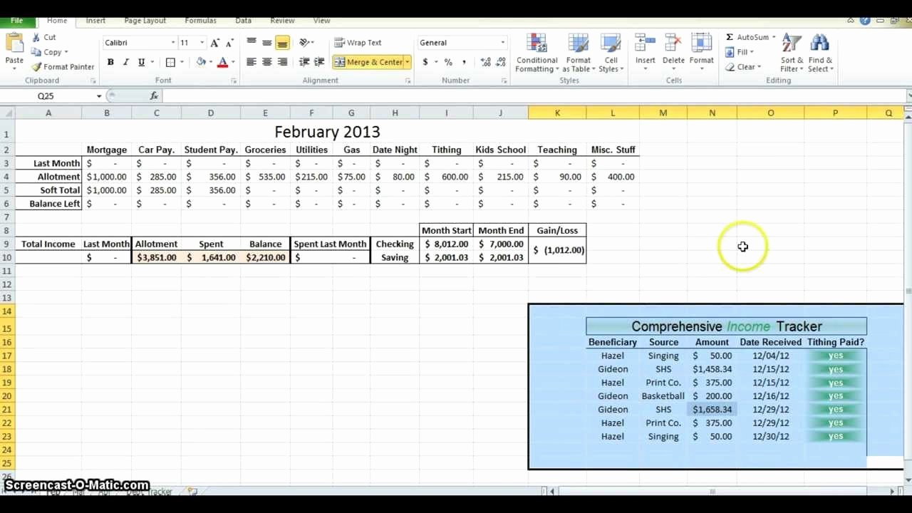Make A Budget On Excel Awesome How to Make A Bud In Excel Part 2