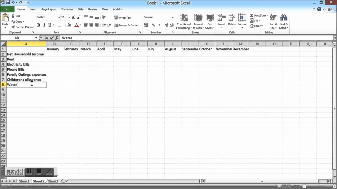 Make A Budget On Excel Beautiful Household Bud Spreadshet How to Create A Household