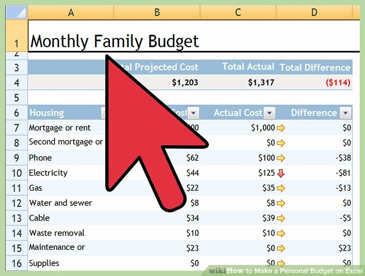 Make A Budget On Excel Beautiful How to Make A Personal Bud On Excel with