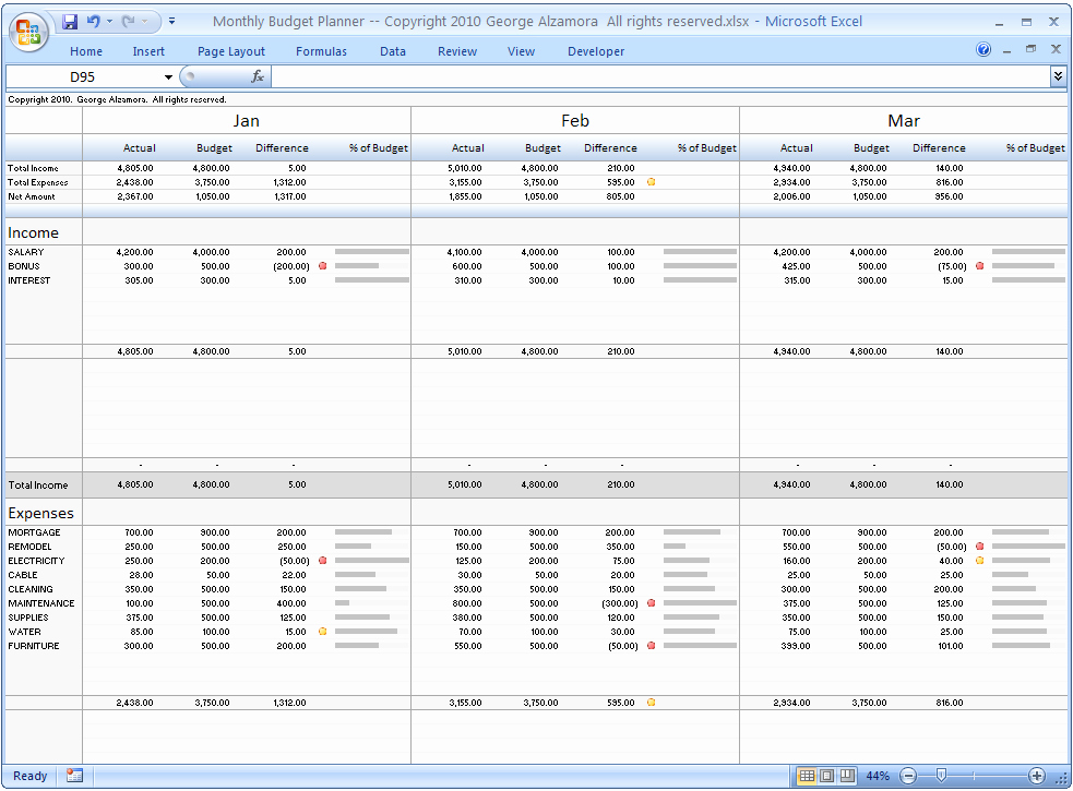 Make A Budget On Excel Best Of Monthly Bud Planner