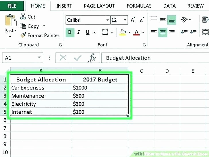 Make A Budget On Excel Fresh How to Create A Bud In Excel Sample Personal Bud