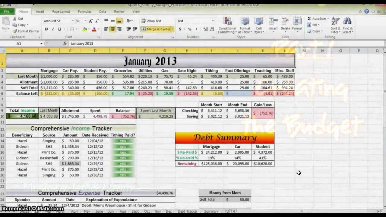 Make A Budget On Excel Fresh How to Make A Bud In Excel Part 1