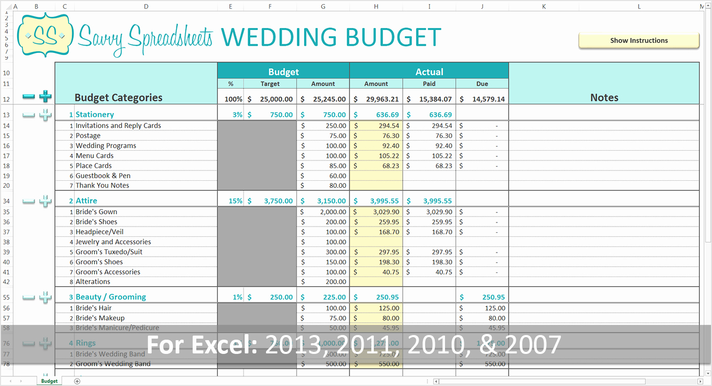 Make A Budget On Excel Fresh How to Make Bud Spreadsheet In Excel Branded Wedding