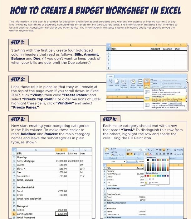 Make A Budget On Excel Lovely 34 Best Amazing organization Images On Pinterest
