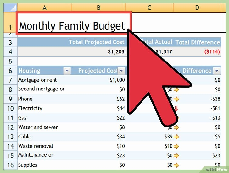 Make A Budget On Excel Luxury E Creare Un Bilancio Personale Con Excel Wikihow