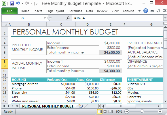 Make A Budget On Excel Luxury Free Personal Monthly Bud Template for Excel