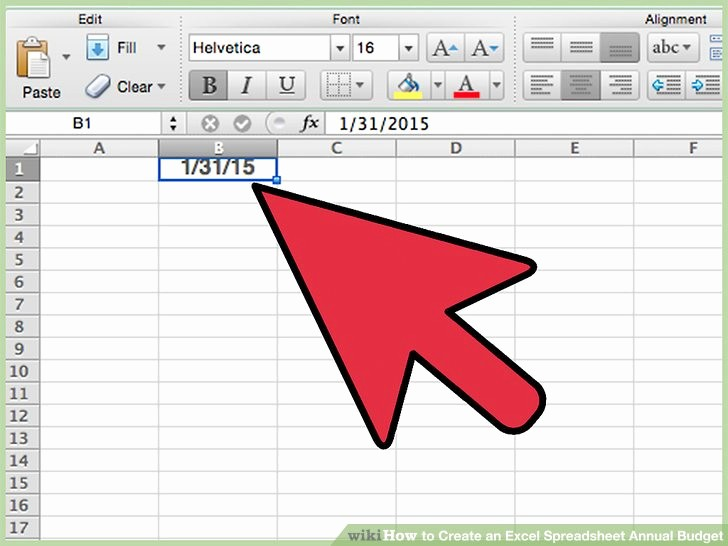 Make A Budget On Excel Luxury How to Create An Excel Spreadsheet Annual Bud 15 Steps