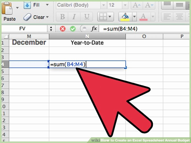 Make A Budget On Excel New How to Create An Excel Spreadsheet Annual Bud 15 Steps