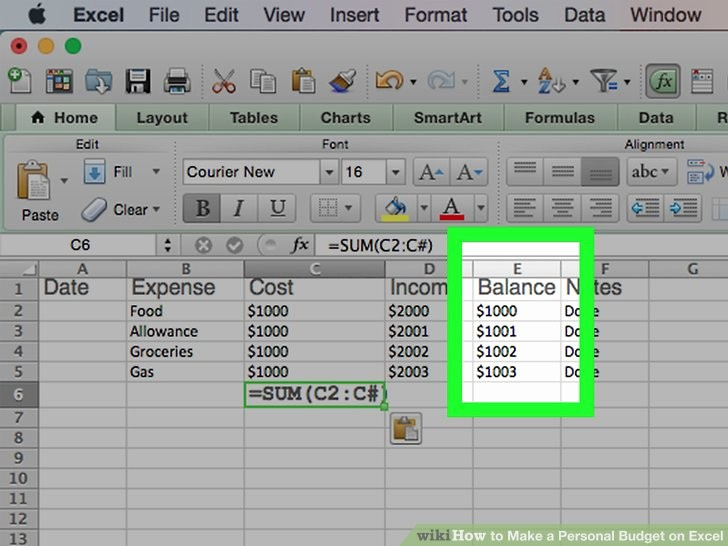 Make A Budget On Excel Unique How to Make A Personal Bud On Excel with