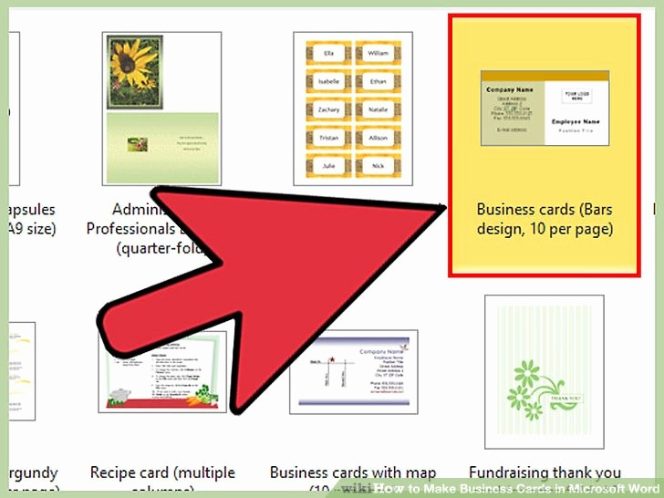 Make A Card In Word Beautiful How to Make Business Cards In Microsoft Word with
